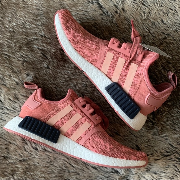 Womens Adidas NMD R1 Raw Pink Trace Pink Legend Ink Shoes